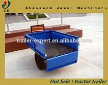 garden tractor dump cart axle farm trailer with CE