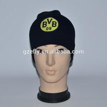 wholesale Football team BVB design acrylic knitted sport beanie hat