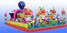 cat shaped mouse inflatable castle for kids