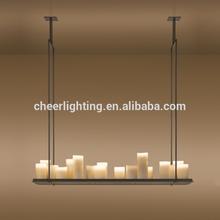 Moderno e innovador de la vela y luz de metal accesorio Altar colgante lámpara de suspensión Altar araña