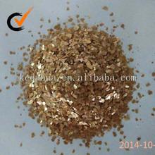 natiral calcine golden mica sheet 3-5mm