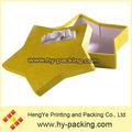 En gros jaune couleurs 6 angle carton boîte - cadeau avec ruban conception, Cadeau boîte avec couvercles