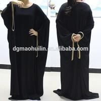 newly design wholesale islamic women abaya jalabiya kaftan 2015 muslim dress
