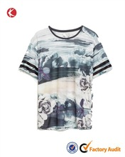 Custom fashion design full sublimation printing t-shirt for men