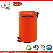 Stainless steel dustbin with PVC