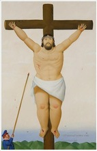 Jesus on Cross Famous Artist Fernando Botero oil painting 57680