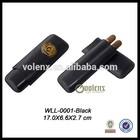 3 CT Leather Cheap Cigar Tube Case Wholesale.Popular Custom Cigar Tube