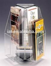 Blanco personalizado vitrina de acrílico y de exhibición del gabinete/cigarrillo empujadores/de acrílico soporte de exhibición para el cigarrillo