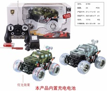 2014 hot toy for kids rc stunt car rc jeep with flashlights and musics for sale