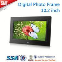 digital photo frame support photo/music/video OEM muti-functional(calendar+clock+timing on/off) digital photo frame big size