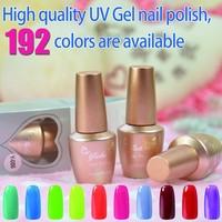 Fashion nail arts ,192 color available ,30 Days Wear, Minutes Off, 15ml soak-off UV Gel nail polish
