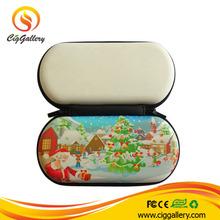 Ciggallery colorful design the theme for chrismas ego case small custom ego zipper case