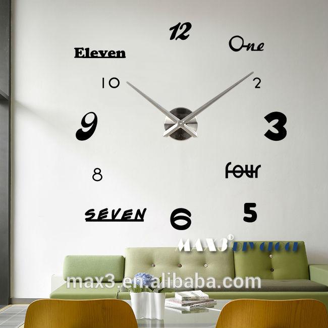 Jam Dinding Besar Unik Ukuran Besar Diy Jam Dinding
