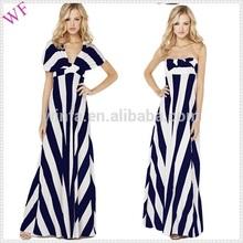 OEM new design maxi dress stripe maxi dress in different designs