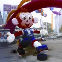 Cute giant monkey inflatable cartoon characters , monkey inflatable model