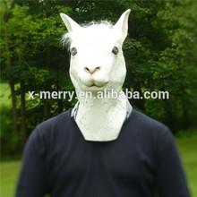 Animal Head Latex Llama Masks Fancy Dress Party Animal Kingdom Rubber Overhead Mask