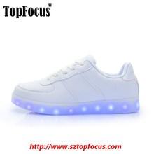 Wholesale china Flat Sneakers USB Charge Glowing Light up LED Women' Shoe