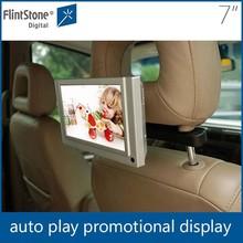 Flintstone 7 inch HD car headrest monitor android taxi headrest digital signage