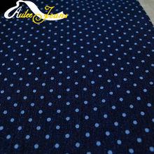 Aufar 12s*200/40+70 denim dots design printed fabric for garment