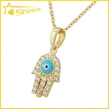 hot sell evil eye cz 925 sterling silver hamsa hand charm