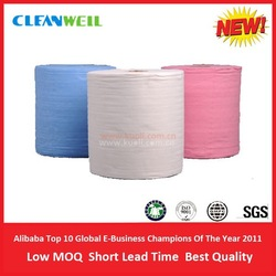 Hot sale wood pulp polyester non woven cleaning wipes