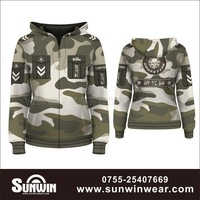 Sublimation full print custom hoodie zipper sweater