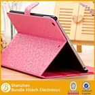 Luxury folio leather case cover for ipad air 2, for apple ipad air 2 case, flip stand case for tablet