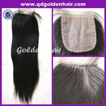 Golden Hair Top Service Best Quality Human Hair Silk Top Closure