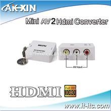 Mini AV to HDMI Converter (Input: AV Output HDMI) for VCR DVD 720P 1080P