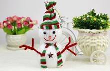 HFR-T314 2015 christmas decoration plush snowman christmas toy