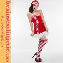 Alibaba de china para mujer baratos de color rosa traje de la navidad