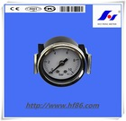 40mm with U shaped clamp black steel pressure gauge