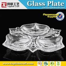 Fruteira de vidro cristal, Decrative mesa frutas / lanches tigela / bandeja