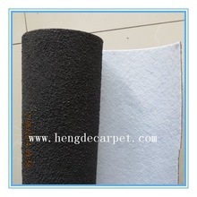 Black carpet with rubber grain backing, rubber mat