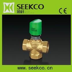 Tee electric regulator, Mixing Valve with electric actuator, HVAC actuator,