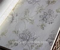 High Foaming Flower design 3d Natural Wallpaper for bed room