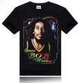 الرجال القميص الأسود rocksir قمصان تي-- شيرت صورة مطبوعة بوب مارلي الشارع ارتداء قصيرة الأكمام تي شيرتالرجال 3d regga الموسيقى