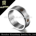 Wholesale engraved mens blank stainless steel ring