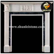 Carving Italian White Marble Decorative Fireplace Mantles