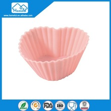 HFSH002 Top Quality Food Grade Cupcake Lovely Silicone Molds Heart