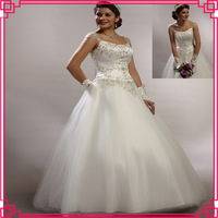 Guangzhou Stephanie Wedding Dress 7337 Embroidery with Beading Embellishment Satin and Tulle Fabric Muslin Wedding Dress