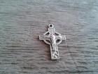 antique silver Catholic Crucifix pendant metal cross pendant accessory jewelry