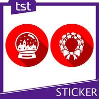 Christmas Static Clings Window Sticker Printing