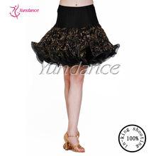ab010b profesyonel özel toptan kız latin dans etek dans çocuklar için giyim