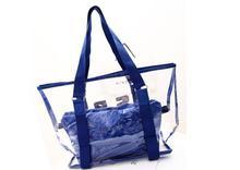 famous brand twin handbag transparent pvc handbag