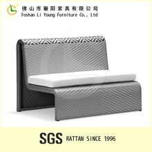 PE rattan commercial Patio Outdoor Leisure Bench LG79-MWH9074