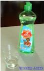 Bulk dishwashing liquid with plastic bottle