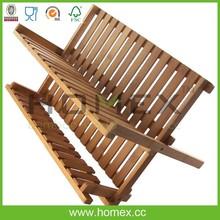 Piatto di bambù e scolapiatti titolare/homex_fsc/fabbrica bsci