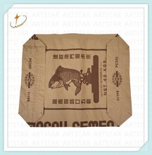 Brown cement bag kraft paper sack