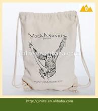 Natural recycled shopping cotton drawstring bag /colourful backpack bag